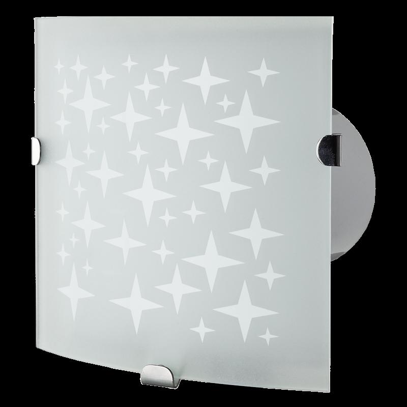 Вентилятор осевой настенно-потолочный со светом Вентс 100 Витро